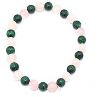 Kriti Feng Shui Malachite And Rose Quartz Bracelet