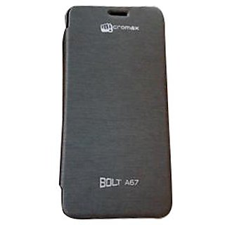 Micromax A67 Bolt Flip Cover Black available at ShopClues for Rs.149