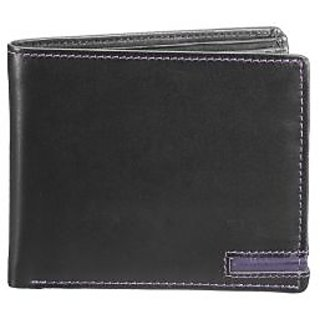 Bifold Full Grain Mens Wallet - Black (W 27 -BLK)