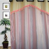 JBG  Home Store  Fancy Lace Design Long Door Pink Curtain(9 Ft)