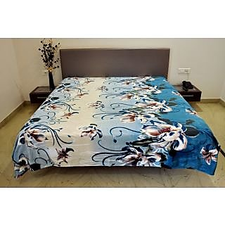 Valtellina Amaryllis Flower Design Double Bed AC Blanket (PFD-006)