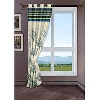StoryHome Green Window Berry Curtain-WBR4011