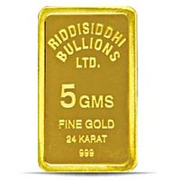 5 Gms 24 KT Gold Bar 999 Purity