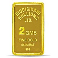 2 Gms 24 KT Gold Bar 999 Purity