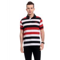 Tab91 In Trend Men Cotton Stripes T-Shirt