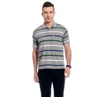 Tab91 Instyle Men Cotton Stripes T-Shirt