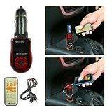 Worldtech Car FM Mp3 Modulator Transmitter And Aux Input With Remote