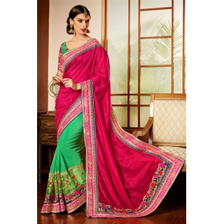 Ethnic Basket Nifty Green Art Silk Saree