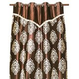 Dabas Curtain Brown With Lace ( Door Curtain) 84 X 48 Inches