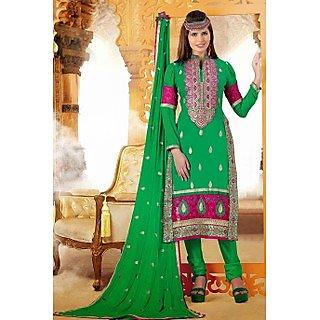 Ethnicbasket Festival Green Dress materials Anarkali Suit
