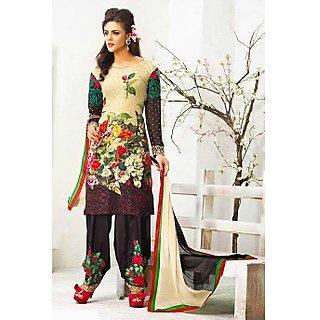 Ethnicbasket Designer Cream Dress Materials Anarkali Suit