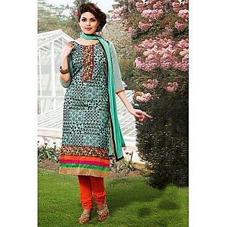 Ethnicbasket Designer Blue Dress materials Anarkali Suit