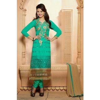 Ethnicbasket Festival Green Salwar KameezAnarkali Suit