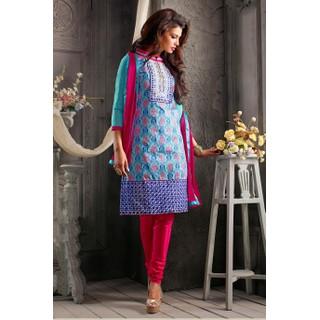 Ethnicbasket Designer Sky Blue Salwar KameezAnarkali Suit
