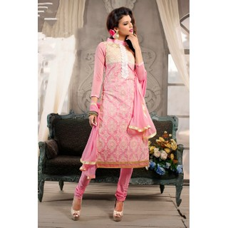 Ethnicbasket Designer Light Pink Salwar KameezAnarkali Suit