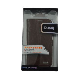 Flip Case For S4 Samsung I 9500/ Galaxy S4/ Brown  Color