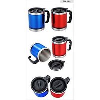 Set Of 2 Insulated Travel Mugs Colour As Per Availability - 3 Shades Red ,blue And Green Any Two Will Be Delivered