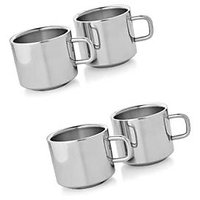Set of 4 Double Wall Tea Cups