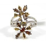 18 KT Gold Plated Solitaire Diamond Ring (Option 117)