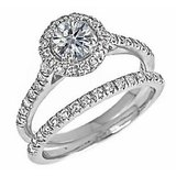 18 KT Gold Plated Solitaire Diamond Ring (Option 171)
