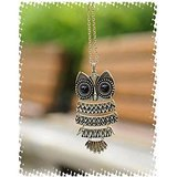 Grabito Retro Owl Long Necklace Chain