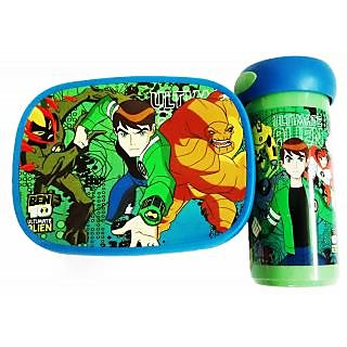 Ben 10 Lunch Box  Water Glass Se t- Durable Material