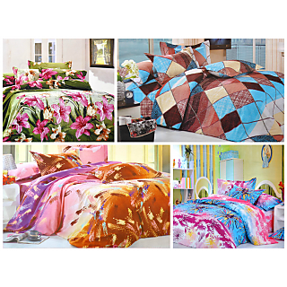 4 Zaria Rosemary Double Bedsheets (Design5)