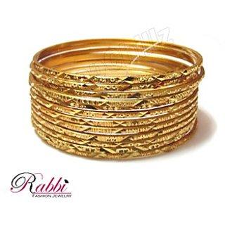 Gold Plated 12 Pcs Bangles Bn01P12 Size 2.6 Moq