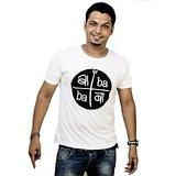 SahiBanda Baba White T-shirt