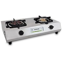 Sunshine Meethi Angeethi Two Burner Stainless Steel Cook Top/ Gas Stove