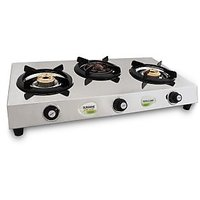 Sunshine Meethi Angeethi Three Burner Stainless Steel Cook Top/ Gas Stove