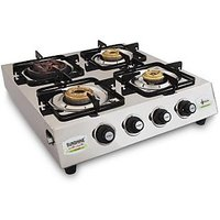 Sunshine Meethi Angeethi Four Burner Stainless Steel Cook Top/ Gas Stove