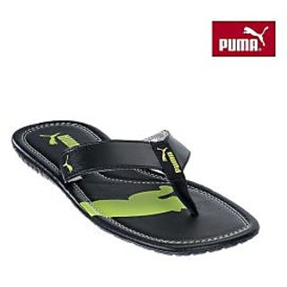 Puma Men Black Drifter Cat II Flip Flops size 10