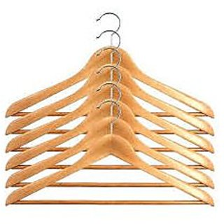 Set Of 12 Wooden Hangers