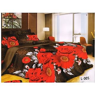 Valtellina polycotton double bedsheet with two pillow cover (LKY-004)