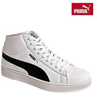Puma Mid Biz Ind White Ankle Length Shoes Size UK 10
