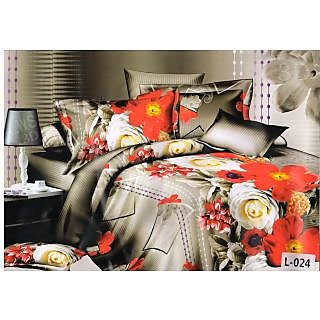 Valtellina polycotton double bedsheet with two pillow cover (LKY-010)