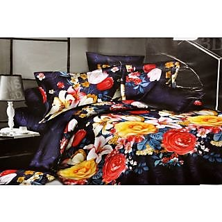 Valtellina polycotton double bedsheet with two pillow cover (LKY-018)