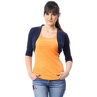 ESPRESSO WOMEN SHRUG - NAVY