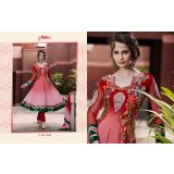 Aarya Red Faux Georgette   Anarkali Suit