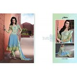 Aarya Sky blue and sea green Faux Georgette   Anarkali Suit