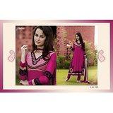 Aarya Pink Faux Georgette   Anarkali Suit
