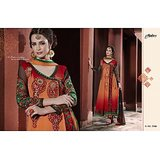 Aarya Red and orange Faux Georgette   Anarkali Suit