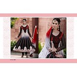 Aarya Black and white Faux Georgette   Anarkali Suit