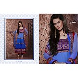Aarya Blue Faux Georgette   Anarkali Suit
