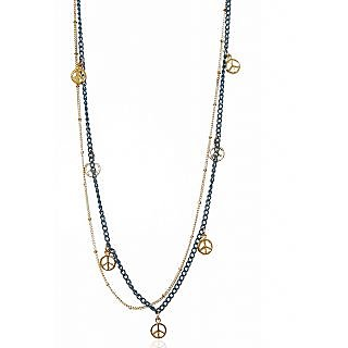 Urthn Glorious Chain Alloy Necklace in Blue  -  1104001