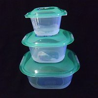 Set Of 3 Pc Microwave Fridge Food & Storage Containers