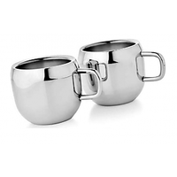 Set of 2 Double Wall Apple Cups