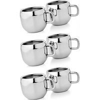 Set of 6 Double Wall Apple Cups
