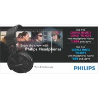 Free Movie & Lunch Tickets With Philips Headphones & Headsets With MRP Rs. 1999 And Above On Your Purchase